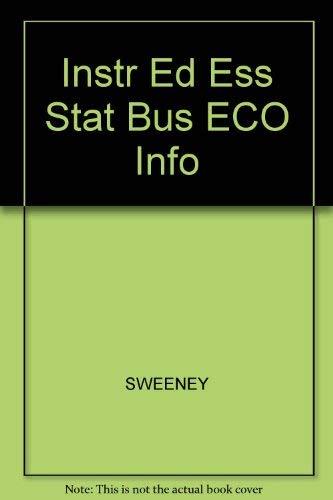 9780324317343: Instr Ed Ess Stat Bus ECO Info