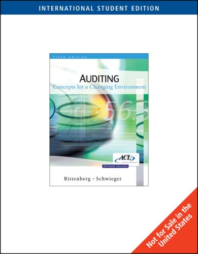 9780324318906: Auditing : Concepts for a Changing Environment