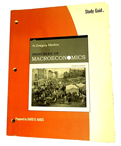 9780324319033: Study Guide for Mankiw's Principles of Macroeconomics, 4th