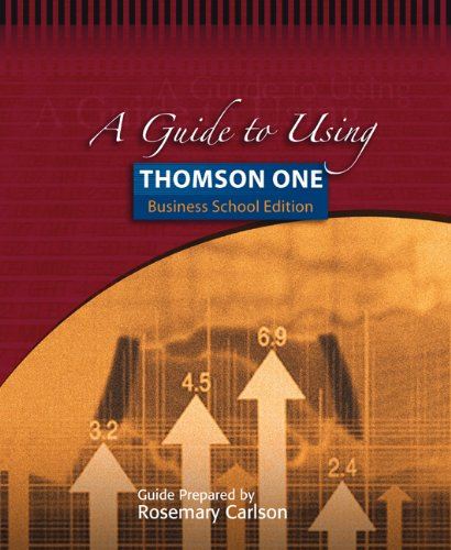 9780324319309: A Guide to Using Thomson ONE - Business School Edition