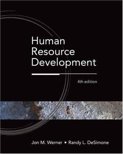 9780324319781: Human Resource Development (Available Titles CengageNOW)