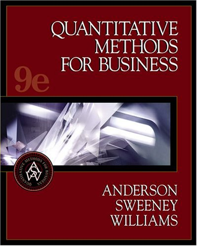 Quantitative Methods for Business with EasyQuant Tutor: David R. Anderson,