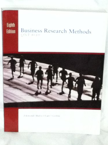 Business Research Methods (Book Only): Zikmund, William G.;
