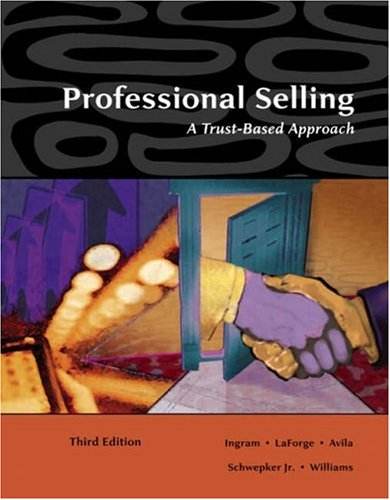 9780324321036: Professional Selling: A Trust-Based Approach