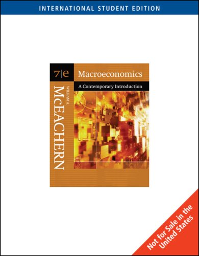 Macroeconmics: A Contemporary Introduction with Infotrac College: William A. McEachern