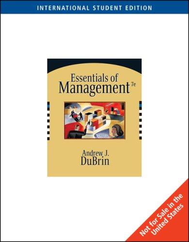9780324323337: Essentials of Management