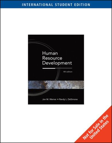 9780324323375: Human Resource Development