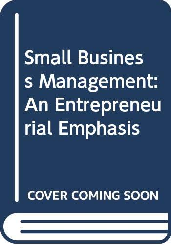 9780324323429: Small Business Management: An Entrepreneurial Emphasis