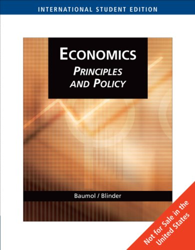 9780324323436: Economics: Principles and Policy (International Student Edition)