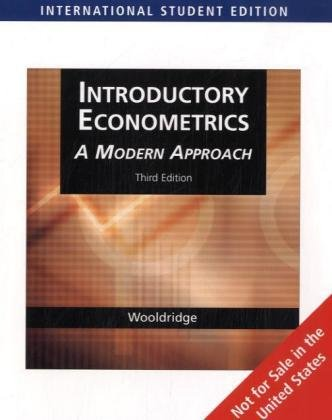 introductory econometrics wooldridge Introductory econometrics: a modern approach: edition 6 - ebook written by jeffrey m wooldridge read this book using google.