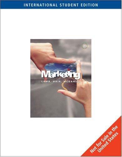 Marketing: Joseph F. Hair; Carl McDaniel; Charles W. Lamb