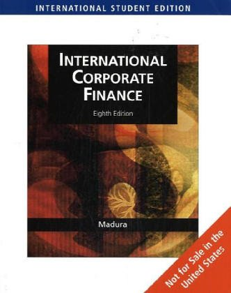 International Corporate Finance (Ise): Madura, Jeff