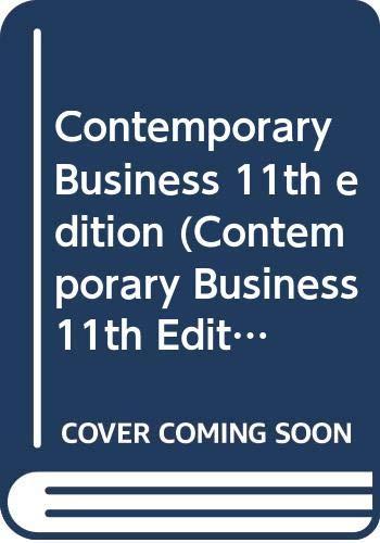 9780324335682: Contemporary Business 11th edition (Contemporary Business 11th Edition Boone and Kurtz)