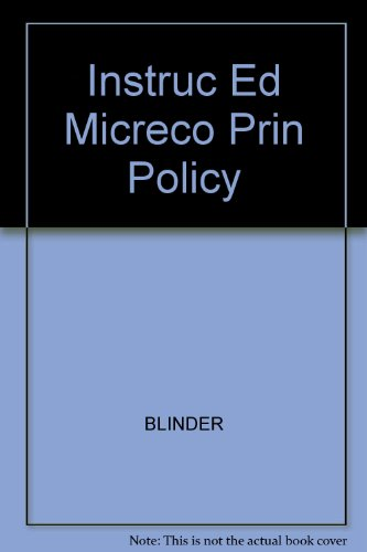 Instruc Ed Micreco Prin Policy: BLINDER, BAUMOL