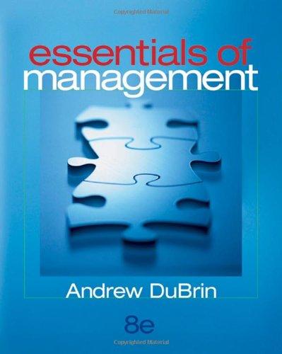 9780324353891: Essentials of Management