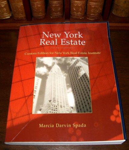 9780324355192: New York Real Estate for Salespersons, 2007, Custom Edition for New York Real Estate Institute