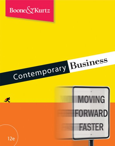 Contemporary Business (9780324359299) by Louis E. Boone; David L. Kurtz