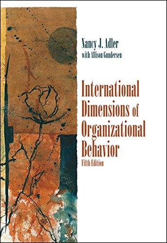 9780324360745: International Dimensions of Organizational Behavior