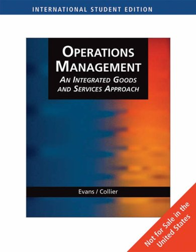 Operations Management: Integrated Goods and Services Approach: WITH Student CD-Rom AND Microsoft Project (0324360789) by David Collier