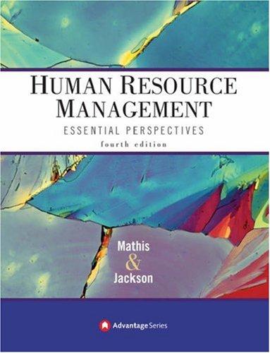 9780324361780: Advantage Books: Human Resource Management: Essential Perspectives