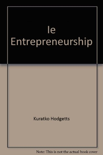 9780324362374: Ie Entrepreneurship