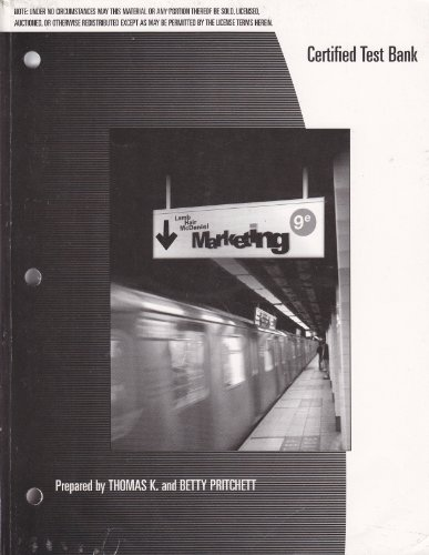 9780324362466: Certified Test Bank for Marketing 9th Edition