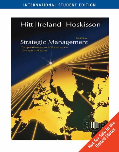 Strategic Management Concepts (0324364342) by Robert E. Hoskisson