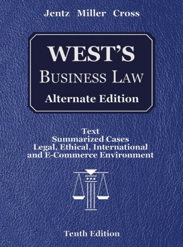 9780324364989: West's Business Law, Alternate Edition (with Online Legal Research Guide)