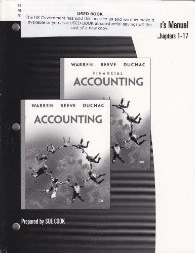 Accounting (22nd Edition) or Financial Accounting (10th