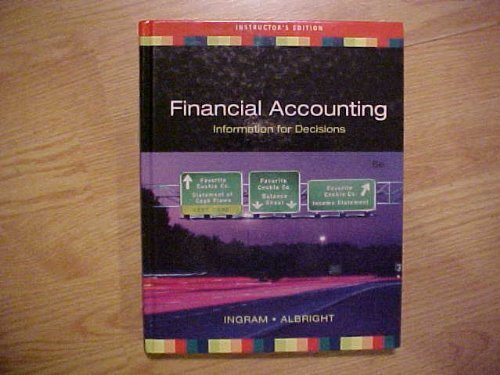 9780324374643: Financial Accounting Informaton for Decisions