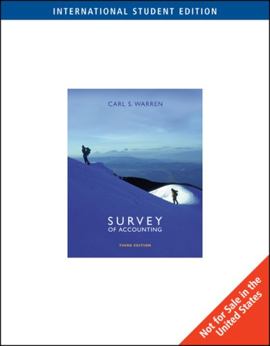 9780324374742: Survey of Accounting
