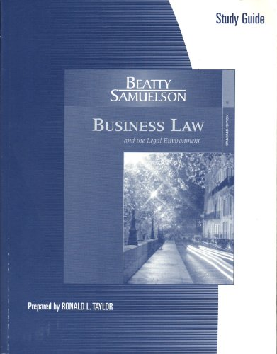 9780324375190: Study Guide for Beatty/Samuelson's Business Law and the Legal Environment, Standard, 4th