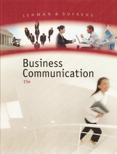 9780324375503: Business Communication, 15th Edition