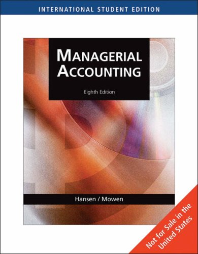 9780324376067: Managerial Accounting