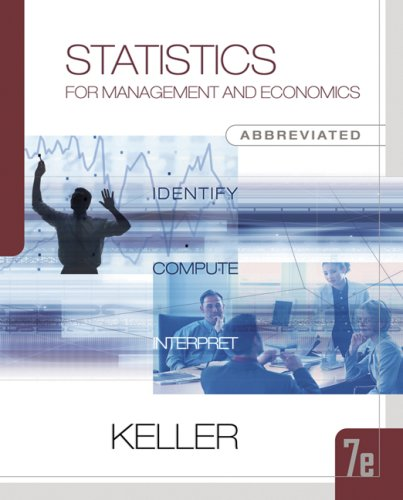 9780324376333: Statistics for Management and Economics, Abbreviated Edition (with CD-ROM and InfoTrac) (Available Titles CengageNOW)