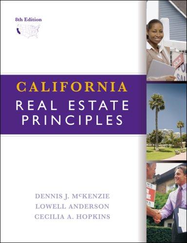 9780324378337: California Real Estate Principles