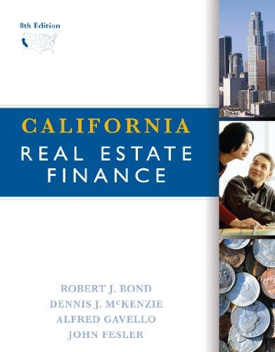 9780324378344: California Real Estate Finance