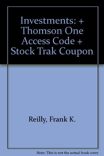 9780324380125: Investments: + Thomson One Access Code + Stock Trak Coupon