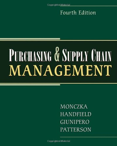 9780324381344: Purchasing and Supply Chain Management