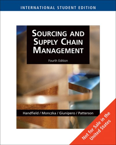 9780324381399: Sourcing and Supply Chain Management