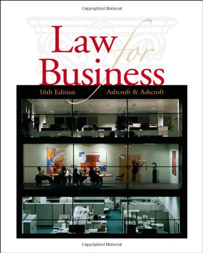 9780324381573: Cengage Advantage Books: Law for Business (Thomson Advantage Books)