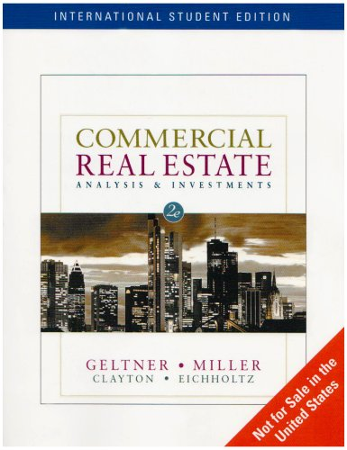 9780324382129: Commercial Real Estate: Analysis and Investments