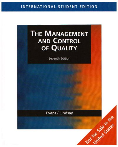 The Management and Control of Quality: William M. Lindsay