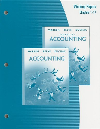 Working Papers, Chapters 1-17 for Warren/Reeve/Duchac's Accounting,: Carl S. Warren,