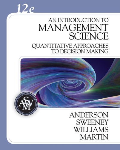 9780324399790: An Introduction to Management Science: A Quantitative Approach to Decision Making (Book Only)