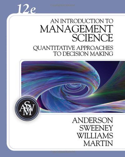 9780324399806: An Introduction to Management Science: Quantitative Approaches to Decision Making (with CD-ROM and Crystal Ball Pro Printed Access Card)