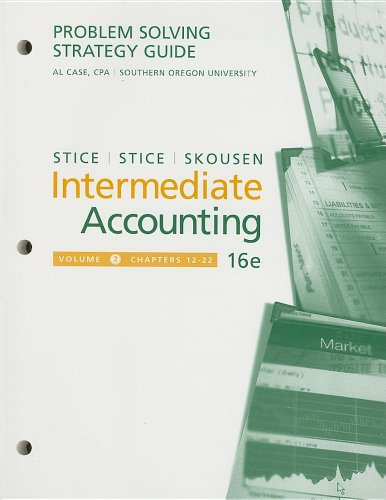 9780324400106: Problem-Solving Strategy Guide, Volume 2 for Stice/Stice's Intermediate Accounting, 16th