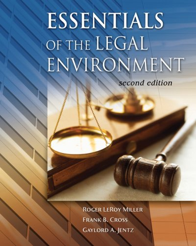 9780324400403: Essentials of the Legal Environment (Advantage Series)