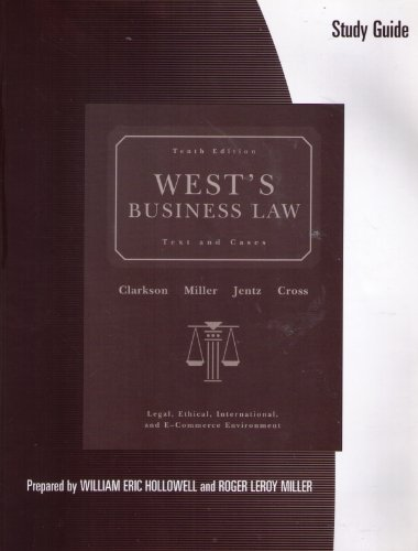 9780324401967: Study Guide for West's Business Law, 10th