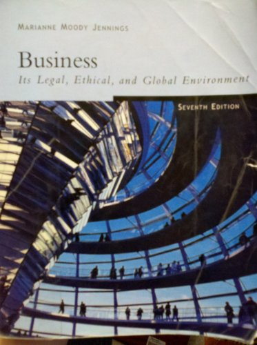 Freedom B/W Version: Business: Its Legal, Ethical,: Marianne M. Jennings